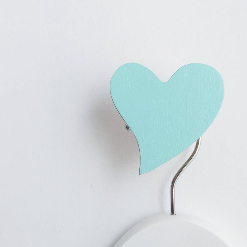 Mint Heart Wall Hook