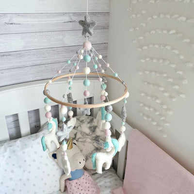 unicorn nursery mobile decor