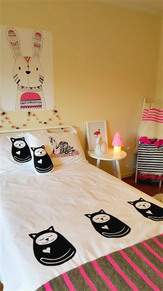 Sleepy Cat Duvet Cover King Single