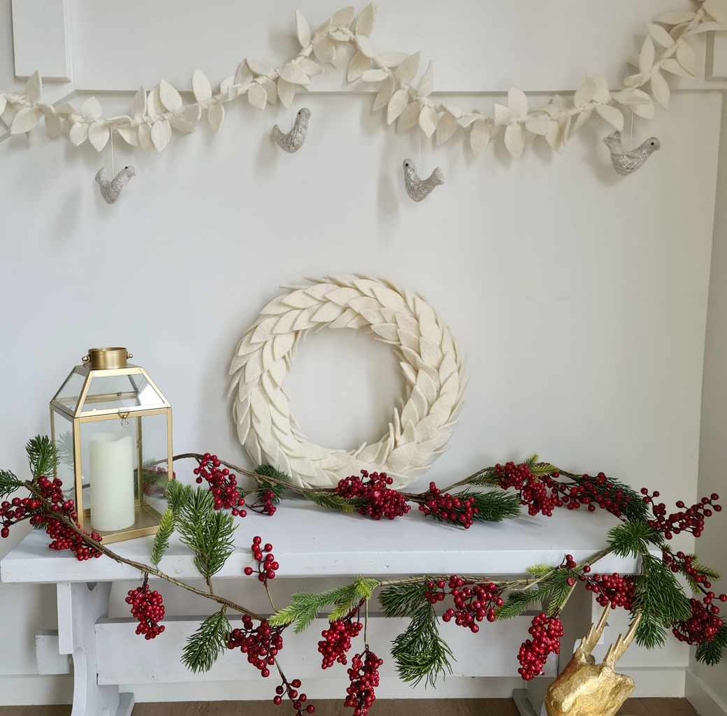 Olive Leaf & Doves Garland