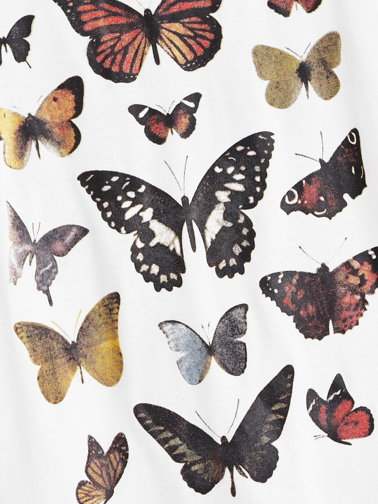 Butterfly Print Short Sleeve Tee