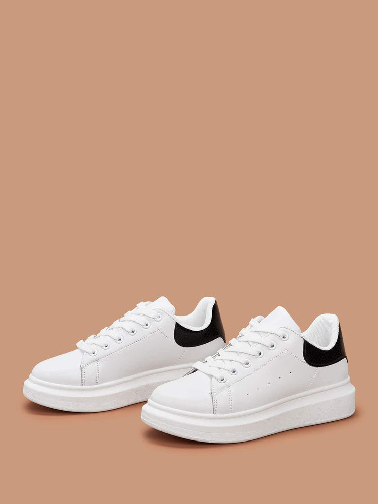 Lace-up Front Wide Fit Sneakers