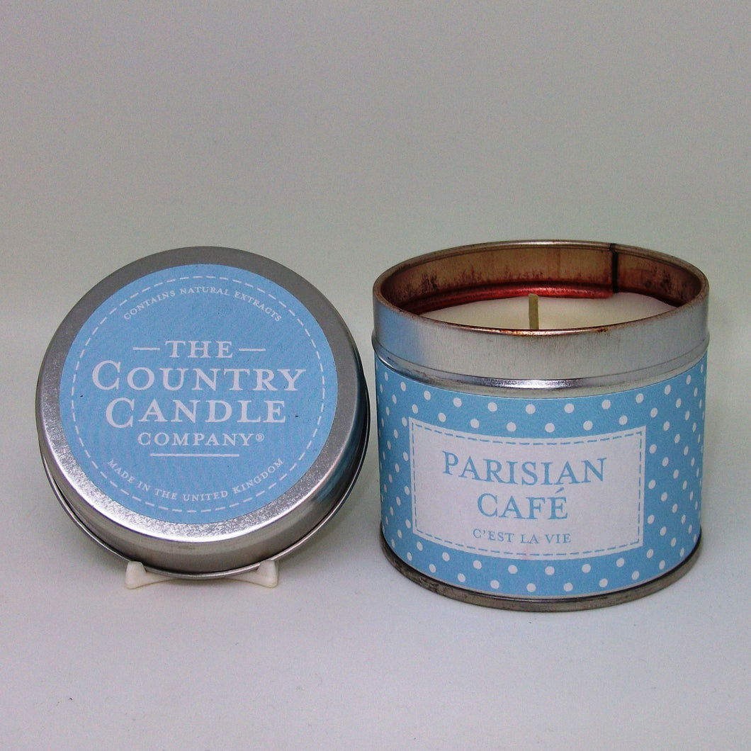 Parisian Cafe Tin Candle