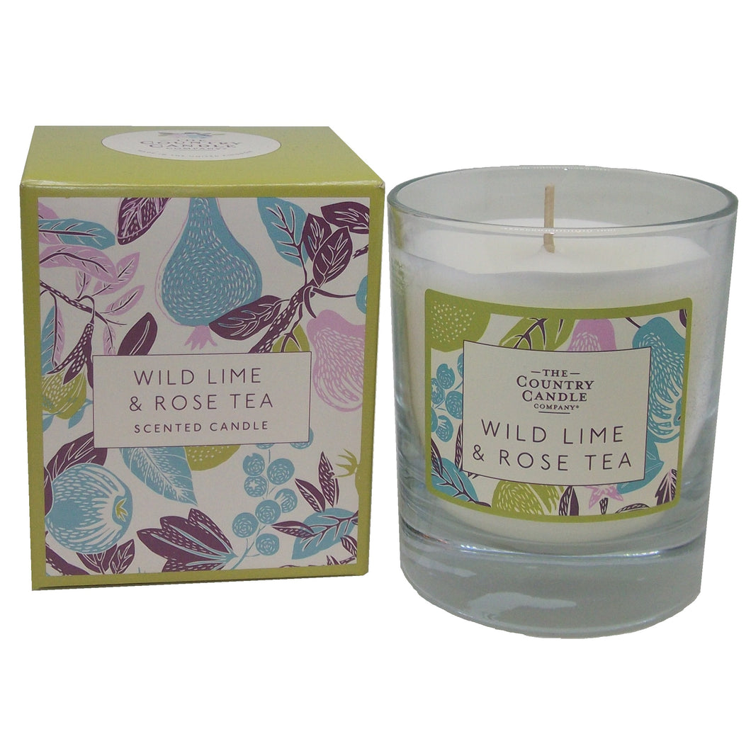 Wild Lime & Rose Tea Candle