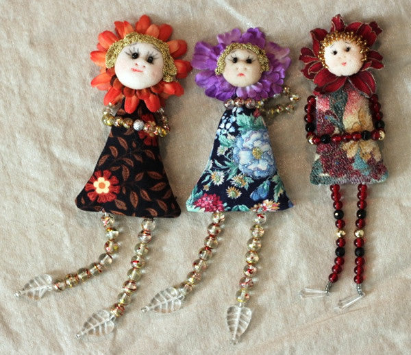 Blossoms Pin Dolls