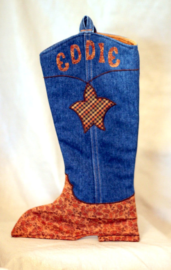 Cowboy Boot Christmas Stocking Pattern - DOWNLOAD SPECIAL!