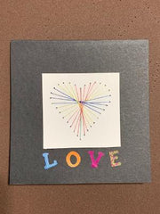 String Art Embroidery CARD