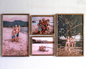 LARGE Wood Photo Print | FREE SHIPPING | Your Photo Print on Wood | Premium Wood Frame | Farmhouse Style