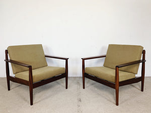 DANISH CHAIRS W/ NEW UPHOLSTERY (2 AVAILABLE)