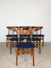 Afbeelding in Gallery-weergave laden, FARSTRUP CHAIRS BLUE (SET OF 6)