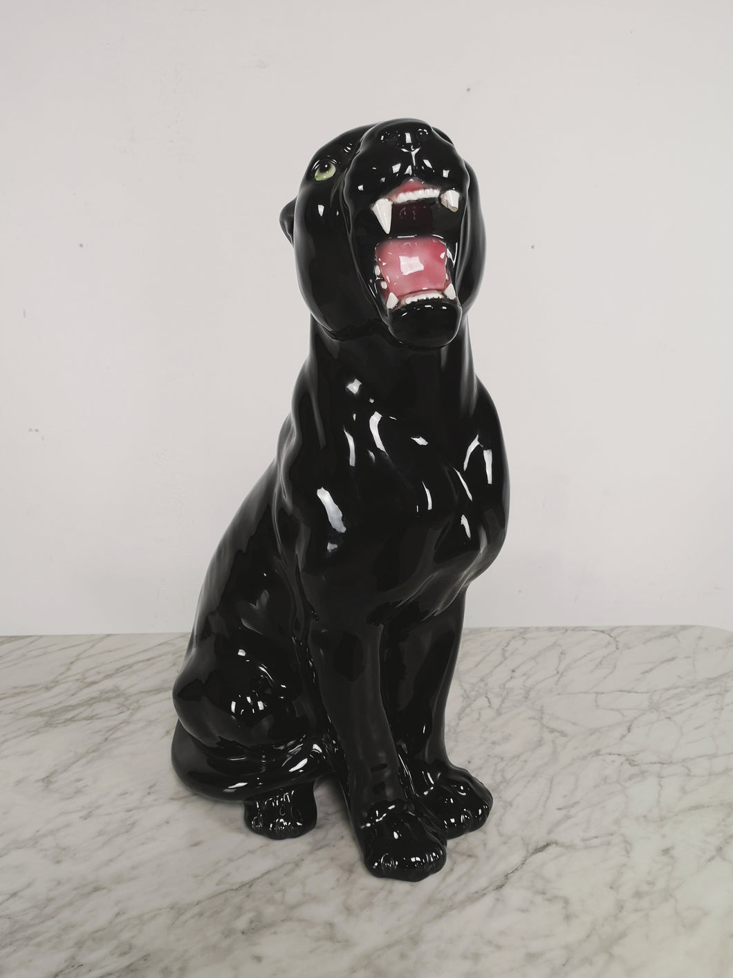 BLACK CERAMIC PANTHER