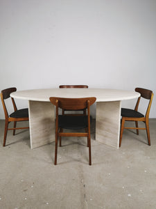 TRAVERTIN DINING TABLE OVAL