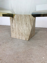 Afbeelding in Gallery-weergave laden, GLASS & MARBLE & GOLD COFFEE TABLE