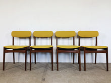 Afbeelding in Gallery-weergave laden, TEAK & YELLOW CHAIRS (SET OF 4)