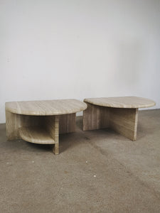 TRAVERTIN SIDETABLES