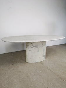OVAL MARBLE TABLE
