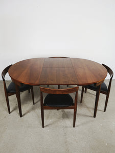 <transcy>DANISH DINING SET TABLE &amp; CHAIRS BY FREM ROJLE (EXTENDABLE)</transcy>