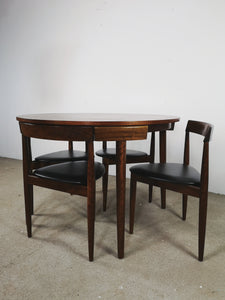 DANISH DINING SET TABLE & CHAIRS BY FREM ROJLE (EXTENDABLE)
