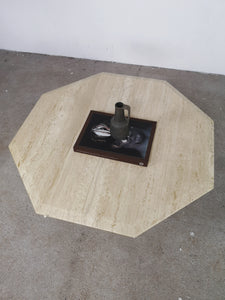 TRAVERTIN HEXAGON TABLE