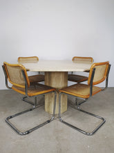 Afbeelding in Gallery-weergave laden, TRAVERTIN HEXAGON DINING TABLE