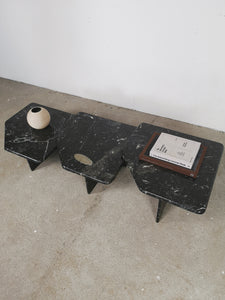 BLACK MARBLE NESTING TABLES