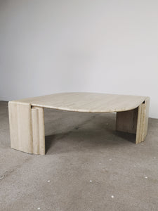 TRAVERTIN COFFEETABLE SCULPTED II