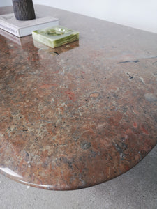 BROWN MARBLE COFFEETABLE