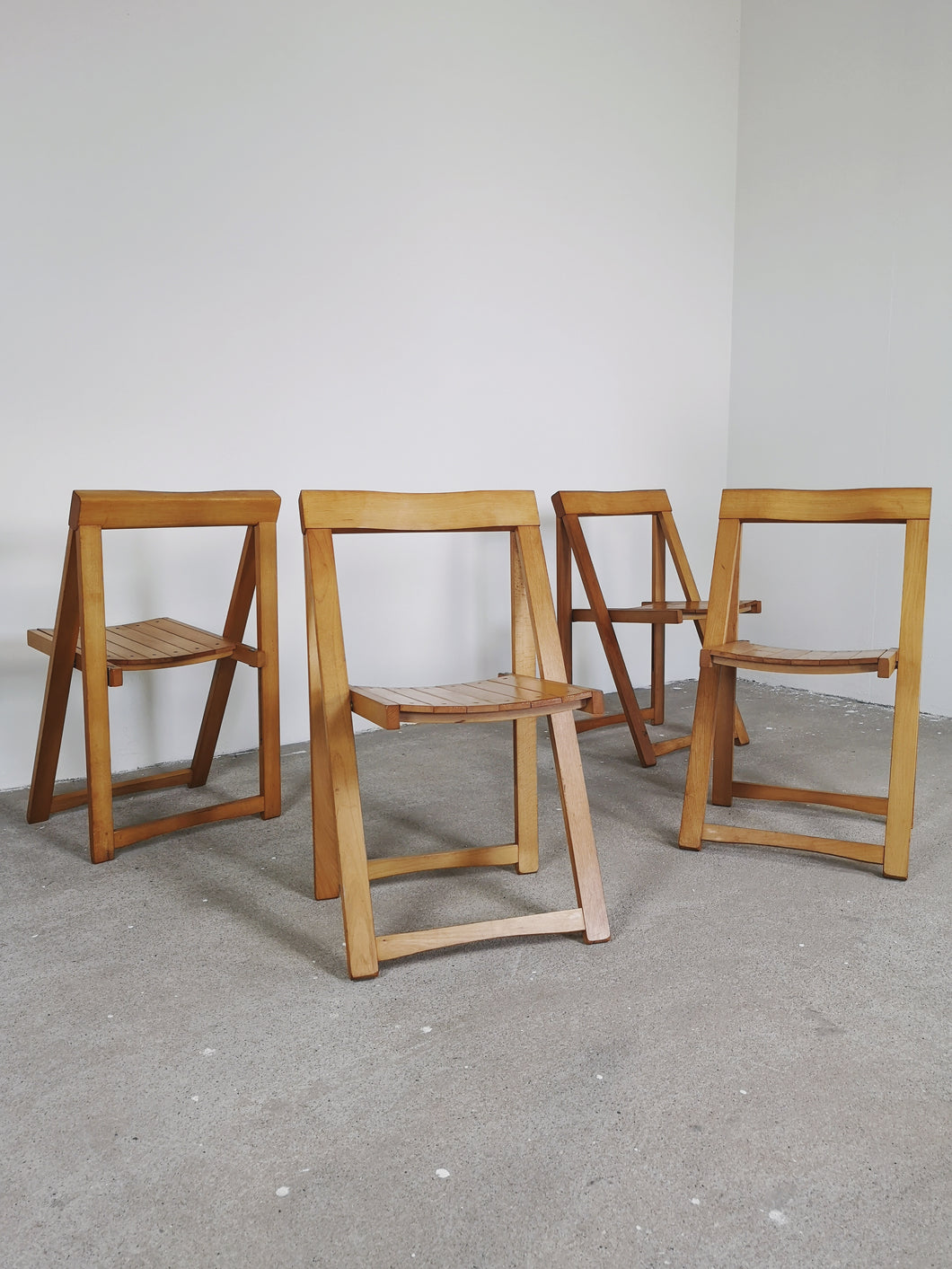 FOLDING CHAIRS BY ALDO JACOBER (SET OF 4)