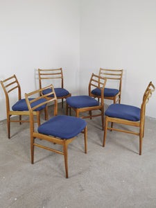 OAK LADDER BACK CHAIRS (SET OF 6)