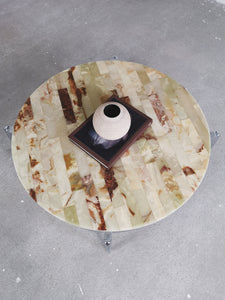 MARBLE & CHROME COFFEETABLE