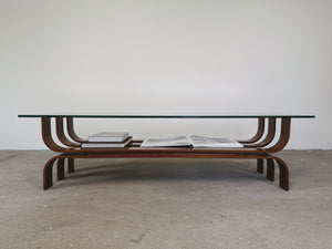 GLASS & TEAK COFFEETABLE ILSE MOBEL