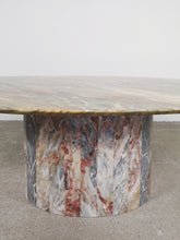 Afbeelding in Gallery-weergave laden, OVAL MULTI COLOR MARBLE COFFEE TABLE