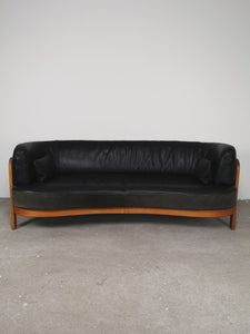 LEATHER CURVY SOFA