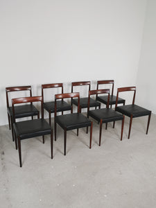 LUBKE ROSEWOOD DINING CHAIRS