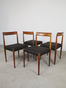 LUBKE DINING CHAIRS BROWN (SET OF 4)