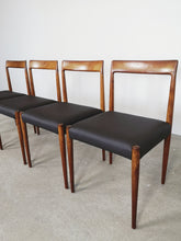Afbeelding in Gallery-weergave laden, LUBKE DINING CHAIRS BROWN (SET OF 4)