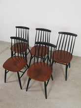 Afbeelding in Gallery-weergave laden, WOODEN CHAIRS (SET OF 5)