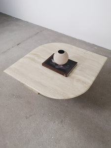 TRAVERTIN COFFEE TABLE LEAF