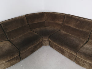 SOFT BROWN MODULAR SOFA