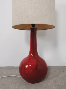 RED CERAMIC FLOOR LAMP