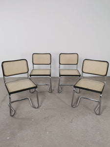 BLACK WEBBING CHAIRS (SET OF 4)