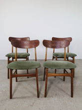 Afbeelding in Gallery-weergave laden, FARSTRUP CHAIRS GREEN SUEDE (SET OF 4)