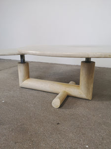 TRAVERTIN LEVELLED COFFEE TABLE
