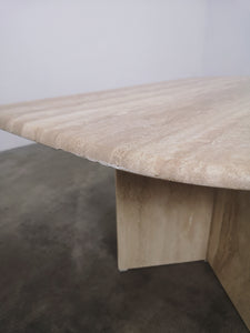 TRAVERTIN LEAF TABLE (BDGT PRICE)