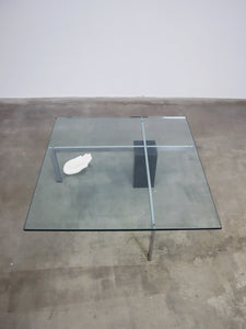 GLASS & MARBLE TABLE METAFORM HANK KWINT