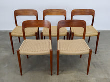 Afbeelding in Gallery-weergave laden, MOLLER NO. 75 CHAIRS (SET OF 5)