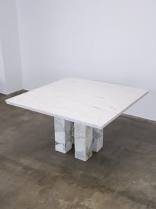 SQUARE MARBLE DINING TABLE