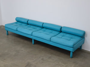 BLUE SPACEY SOFAS