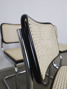 WEBBING CHAIRS BLACK FRAME (SET OF 4)