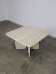 TRAVERTIN SIDE TABLE